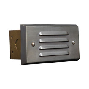 Step Light with Louvered Face Plate Lens